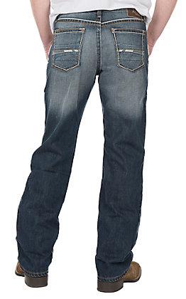 Ariat Men's M4 Atlantic Casey Dark Wash Low Rise Boot Cut Jeans