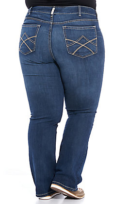 Ariat REAL Women's Tulip Mid Rise Stretch Boot Cut Jeans - Plus Sizes