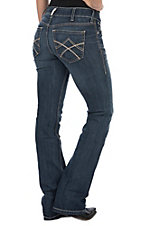 Ariat Women's REAL Tulip Mid Rise Boot Cut Jeans