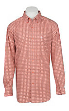 Ariat Men's Pacquin Aztec Sandy Orange Long Sleeve Stretch Western Shirt