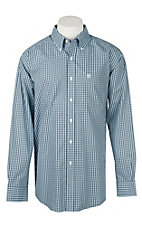 Ariat Men's Wrinkle Free Quarterman Plaid Print Long Sleeve Western Shirt