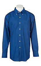 Ariat Men's Royal Sapphire Solid Twill Western Shirt