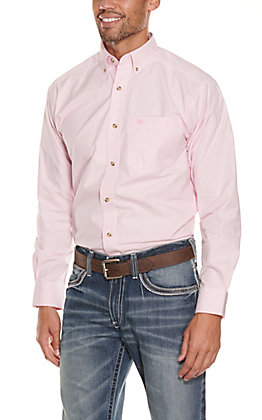 Ariat Pro Series Men's Pink Mini Stripes Western Shirt