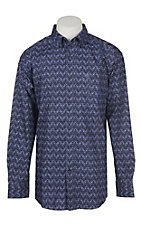 Ariat Men's True Navy Paneto Print Long Sleeve Western Shirt