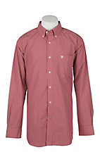 Ariat Men's Pempton Calypso Coral Plaid Western Shirt