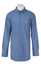 Ariat Pro Series Men's Earthly Blue Saben Plaid L/S Western Shirt