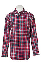 Ariat Pro Series Men's Safrin Scooter Plaid L/S Western Shirt