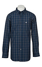 Ariat Pro Series Men's Sandon Deep Pacific Plaid L/S Western Shirt