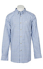 Ariat Pro Series Men's White Sinclair Plaid L/S Western Shirt