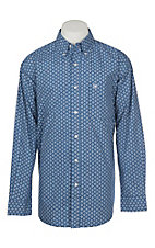 Ariat Men's Earthly Blue Snerling Medallion Long Sleeve Western Shirt