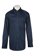 Ariat Men's Deep Pacific Solid Twill Western Shirt