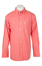 Ariat Men's Tangeman Stretch Geo Coral Print L/S Cavender's Exclusive Western Shirt