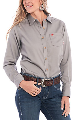Ariat Women's Silver Fox FR Basic Work Shirt