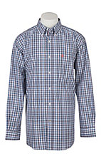Ariat Pro Series Men's Taberias Plaid White Western Shirt
