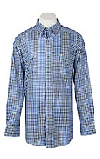 Ariat Men's Pro Series Talbott Plaid Print Long Sleeve Western Shirt