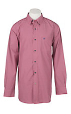 Ariat Pro Series Men's Tesky Plaid Coral Fan Western Shirt
