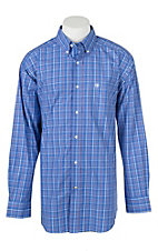 Ariat Men's Pro Series Traylor Plaid Print Long Sleeve Western Shirt