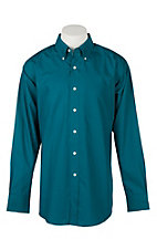 Ariat Men's Teal Solid Twill Western Shirt