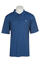 Ariat Men's Blue Quartz Heat Series Tek Polo Shirt