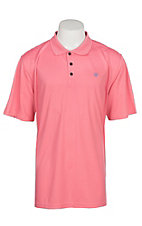 Ariat Men's Confetti Pink Heat Series Tek Polo Shirt