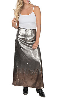 Ariat Women's Glisten Black Sequin Skirt