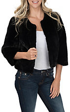 Ariat Women's Mona Cropped Faux Fur Jacket
