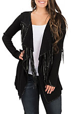 Ariat Women's Trenton Black Fringe Cardigan