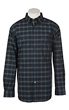 Ariat Men's Pro Series Calderas Black Plaid Print Long Sleeve Western Shirt
