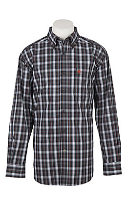 Ariat Men's Pro Series Calvelli Plaid Print Long Sleeve Western Shirt