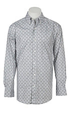 Ariat Men's Carlington Grey Aztec Print Long Sleeve Western Shirt