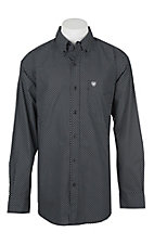 Ariat Men's Black Carolla Geo Print Long Sleeve Western Shirt