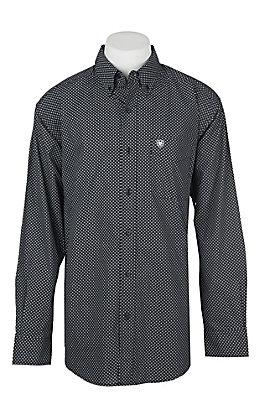 Ariat Men's Black Carolla Geo Print Long Sleeve Western Shirt