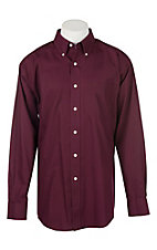Ariat Men's Burgundy Solid Twill Western Shirt