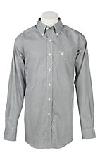 Ariat Men's Wrinkle Free Black Zemo Print Long Sleeve Western Shirt