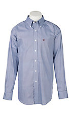 Ariat Men's Wrinkle Free Zeplin Blue Geo Print Long Sleeve Western Shirt