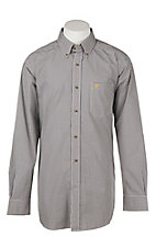 Ariat Men's Bonnel White Mini Plaid Western Shirt