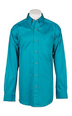 Ariat Men's Atomic Blue Solid Twill Western Shirt