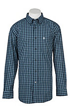 Ariat Men's Pro Series Abington Navy Plaid Long Sleeve Western Shirt