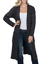 Ariat Women's Autumn Navy Long Sleeve Sweater Cardigan