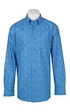 Ariat Men's Alcosta Blue Paisley Print Western Shirt