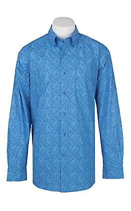 Ariat Men's Alcosta Blue Paisley Print Western Shirt