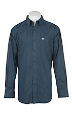 Ariat Men's Navy Aticus Stretch Print Western Shirt