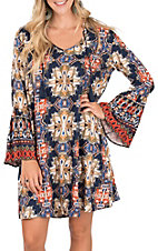 Ariat Women's Navy Blue Alton Print Dress