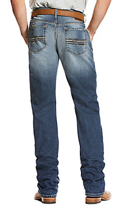 Ariat Men's M4 Cinder Lineup Stretch Relaxed Boot Cut Jeans