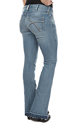 Ariat Women's REAL Meg Antarctica Boot Cut Jeans