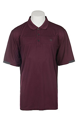 Ariat Men's Mulled Wine Heat Series Tek Polo Shirt Cavender's Exclusive