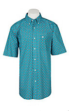 Ariat Men's Blue Bird Print Stretch S/S Cavender's Exclusive Western Shirt - Big & Tall