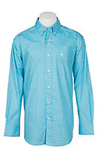 Ariat Men's Miracle Grow Blue Stretch Tarawick Print L/S Cavender's Exclusive Western Shirt