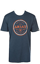 Ariat Men's Heather Navy Emblem S/S T-Shirt