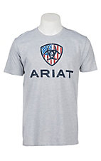 Ariat Men's Heather Grey USA Liberty S/S T-Shirt
